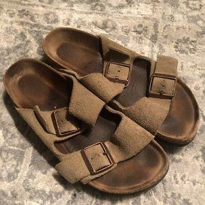 Birkenstock Arizona Suede Sandal 38